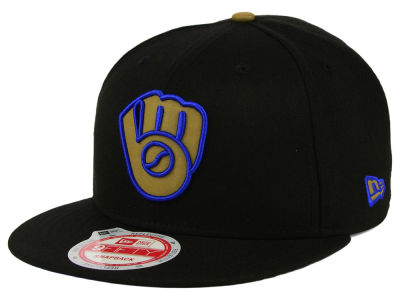 Milwaukee Brewers New Era MLB Goldie Logo 9FIFTY Snapback Cap