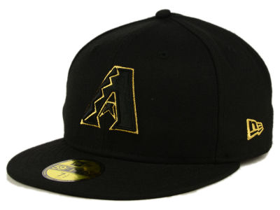 Arizona Diamondbacks New Era MLB Black On Metallic Gold 59FIFTY Cap