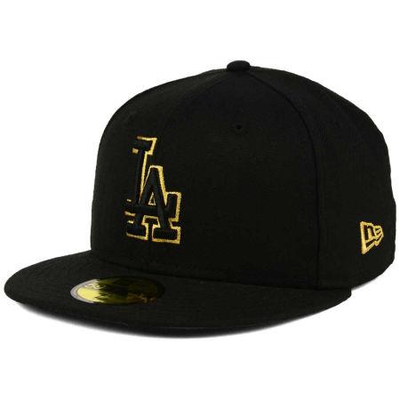 Los Angeles Dodgers New Era MLB Black On Metallic Gold 59FIFTY Cap