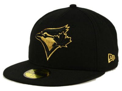 Toronto Blue Jays New Era MLB Black On Metallic Gold 59FIFTY Cap