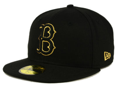 Brooklyn Dodgers New Era MLB Black On Metallic Gold 59FIFTY Cap