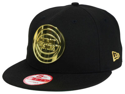 Detroit Pistons New Era NBA HWC League O'Gold 9FIFTY Snapback Cap