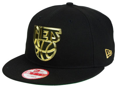 New Jersey Nets New Era NBA HWC League O'Gold 9FIFTY Snapback Cap