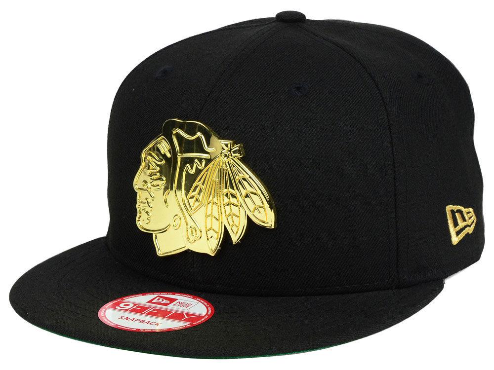 Chicago Blackhawks New Era NHL League O Gold 9FIFTY Snapback Cap ... d873de61b1c7