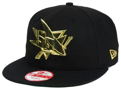 San Jose Sharks New Era NHL League O'Gold 9FIFTY Snapback Cap