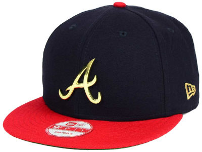Atlanta Braves New Era MLB League O'Gold 9FIFTY Snapback Cap