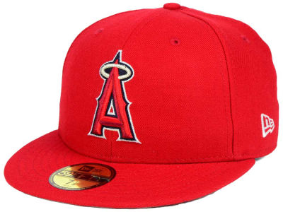 Los Angeles Angels New Era MLB Custom World Series Patch 59FIFTY Cap