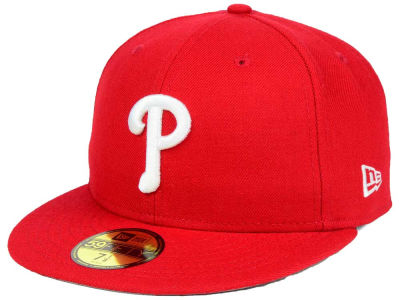Philadelphia Phillies New Era MLB Custom World Series Patch 59FIFTY Cap
