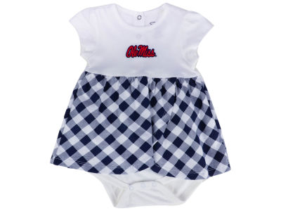 Ole Miss Rebels Garb NCAA Newborn Girls Miranda Gingham Dress