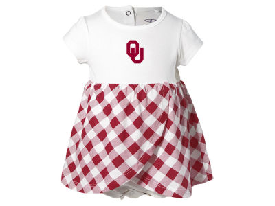 Oklahoma Sooners NCAA Infant Girls Miranda Gingham Dress