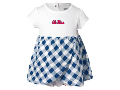 Ole Miss Rebels NCAA Infant Girls Miranda Gingham Dress