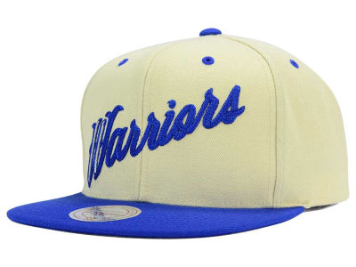 Golden State Warriors Mitchell and Ness NBA X-Day Wordmark Snapback Hat