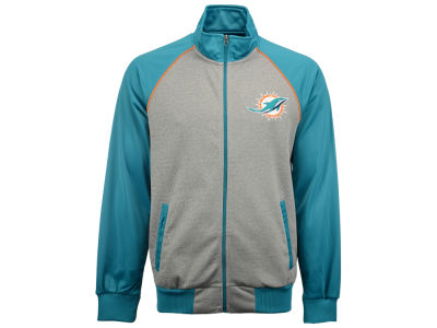 Miami Dolphins GIII NFL Men's Throwback Track Jacket