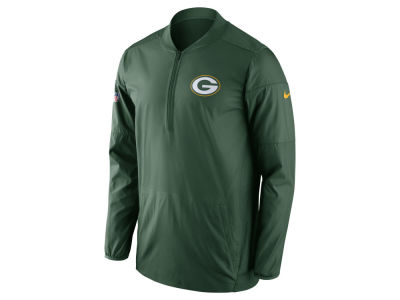 Green Bay Packers Nike NFL Men's Lockdown Half Zip Pullover
