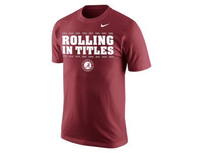 Alabama Crimson Tide Nike NCAA Men's National Championship Game Celebration Moments T-Shirt