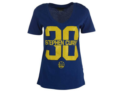 Golden State Warriors Stephen Curry 5th & Ocean NBA Women's Sparkle Player T-Shirt
