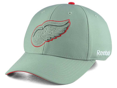 Detroit Red Wings Reebok NHL Tonal Grey Structured Flex Cap