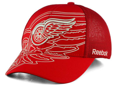 Detroit Red Wings Reebok NHL Outlined Logo Structured Flex Cap