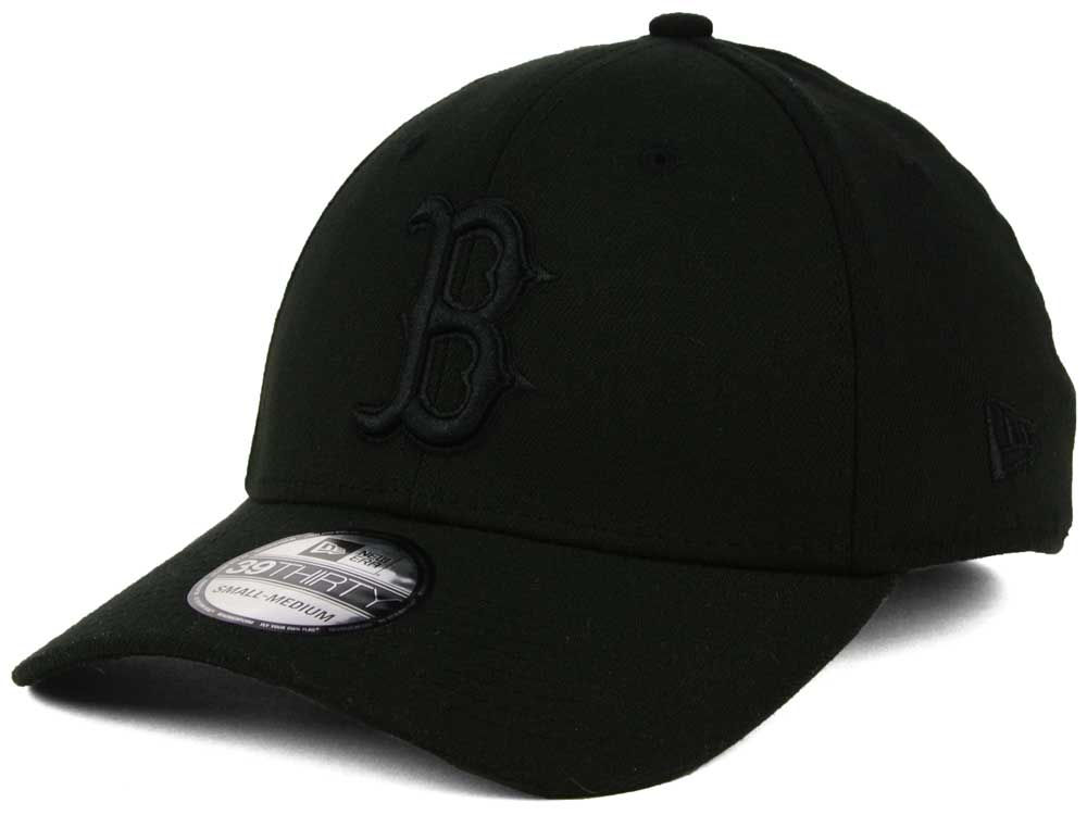 1321d518bc2 Boston Red Sox New Era MLB Black on Black Classic 39THIRTY Cap