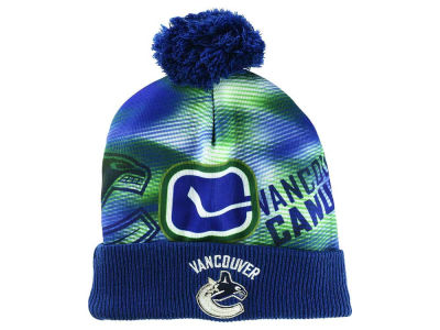Vancouver Canucks Reebok NHL Sublimated Printed Cuffed Pom Knit