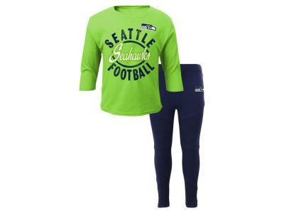 Seattle Seahawks Outerstuff NFL Infant Girls Football Sweetheart Set