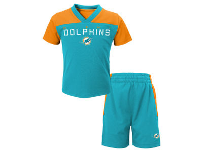 Miami Dolphins Outerstuff NFL Toddler Coil Short Set