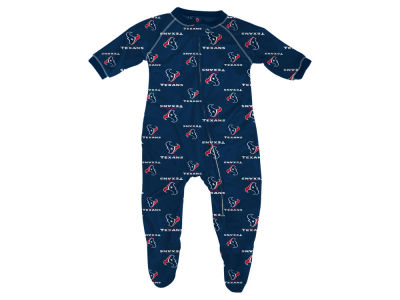 Houston Texans Outerstuff NFL Infant Raglan Zip Up Coverall Sleeper