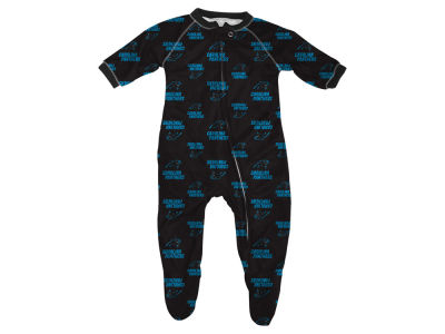 Carolina Panthers Outerstuff NFL Infant Raglan Zip Up Coverall Sleeper