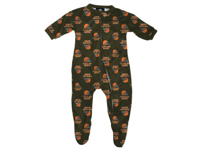 Cleveland Browns Outerstuff NFL Infant Raglan Zip Up Coverall Sleeper