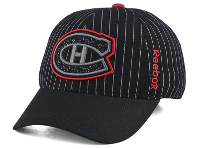 Montreal Canadiens Reebok NHL Pin Stripe Flex Cap