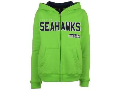 Seattle Seahawks Outerstuff NFL Youth Stated Full Zip Hoodie