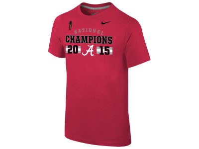 Alabama Crimson Tide Nike NCAA Youth National Championship Game Celebration T-Shirt