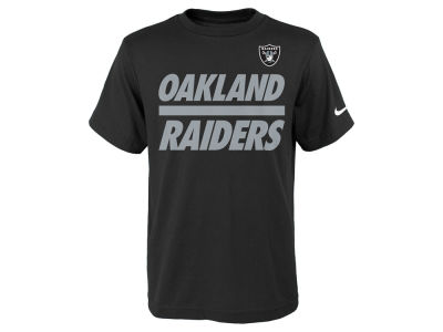 Oakland Raiders Nike NFL Youth Team Stripe T-Shirt