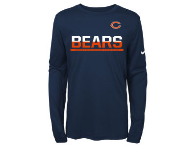 Chicago Bears Nike NFL Youth Team Practice Long Sleeve T-Shirt