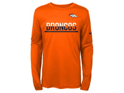 Denver Broncos Nike NFL Youth Team Practice Long Sleeve T-Shirt