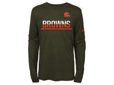 Cleveland Browns Nike NFL Youth Team Practice Long Sleeve T-Shirt
