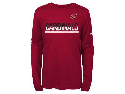 Arizona Cardinals Nike NFL Youth Team Practice Long Sleeve T-Shirt