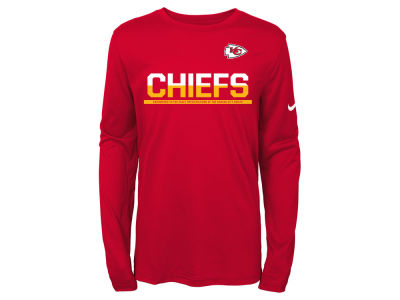 Kansas City Chiefs Nike NFL Youth Team Practice Long Sleeve T-Shirt
