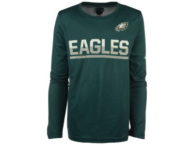 Philadelphia Eagles Nike NFL Youth Team Practice Long Sleeve T-Shirt