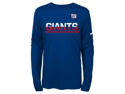 New York Giants Nike NFL Youth Team Practice Long Sleeve T-Shirt