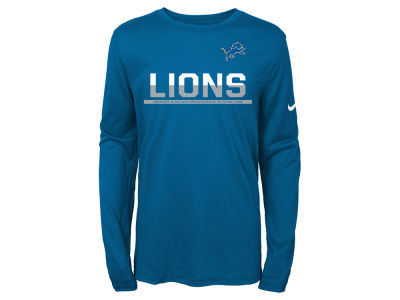 Detroit Lions Nike NFL Youth Team Practice Long Sleeve T-Shirt