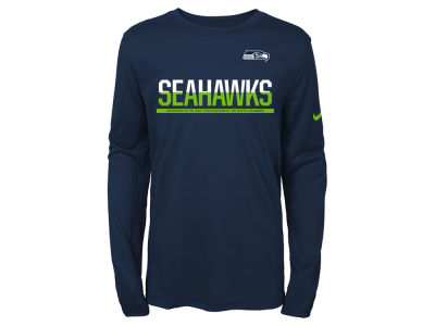 Seattle Seahawks Nike NFL Youth Team Practice Long Sleeve T-Shirt