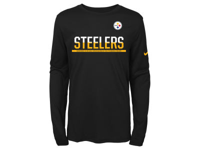 Pittsburgh Steelers Nike NFL Youth Team Practice Long Sleeve T-Shirt