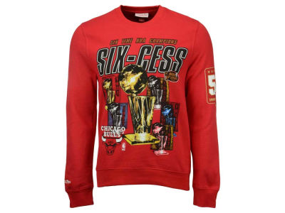 Chicago Bulls NBA Men's Six-Cess Crew Neck Sweatshirt