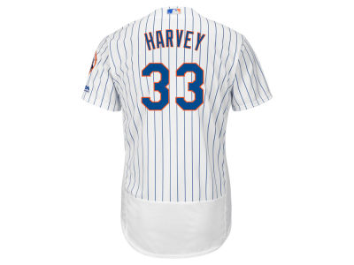 New York Mets Matt Harvey Majestic MLB Men's Flexbase On-Field Player Jersey