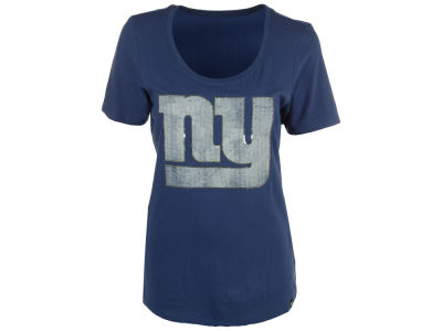 New York Giants '47 NFL Women's Lux Sequins Scoop T-Shirt