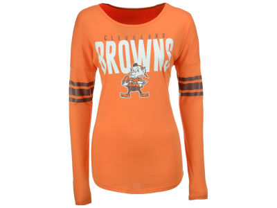 Cleveland Browns '47 NFL Women's Courtside Long Sleeve T-Shirt
