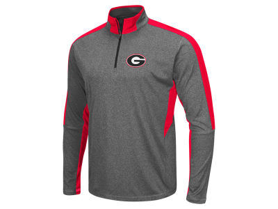 Georgia Bulldogs Colosseum NCAA Men's Atlas Quarter Zip Pullover