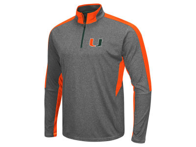 Miami Hurricanes Colosseum NCAA Men's Atlas Quarter Zip Pullover