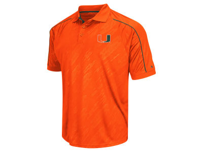 Miami Hurricanes Colosseum NCAA Men's Sleet Polo Shirt